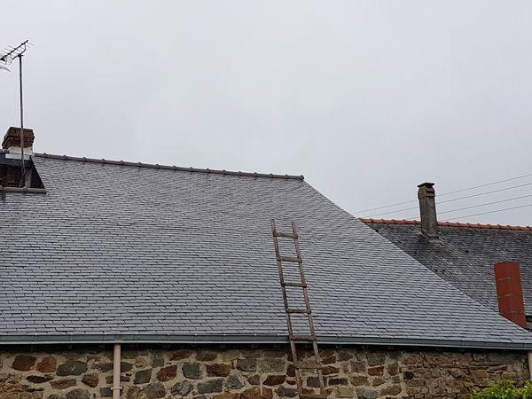 Démoussage d'une toiture par CKM Couverture dans le 35